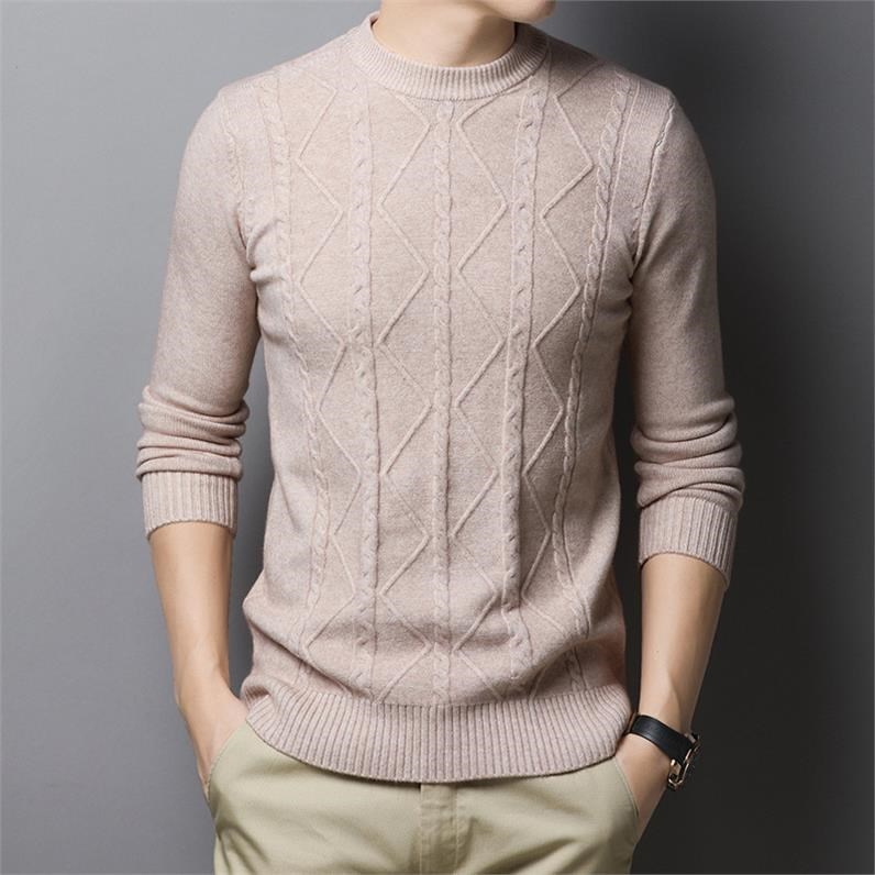 Fashion Men's Clothes Homme Sweaters MOOWNUC Pullover Spring Long Sleeve Shirt  Knitted Casual Male Slim Fit Striped Sweaters