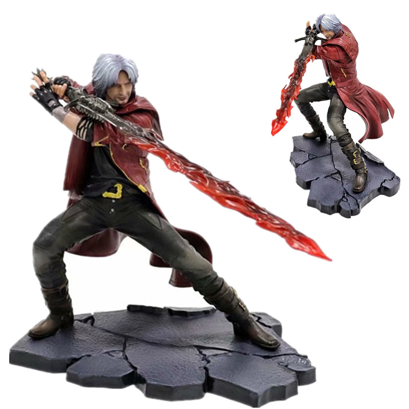 25 Cm Artfx J Setan-CRY Dante Dante Patung Figure PVC Model Koleksi Mainan Hadiah