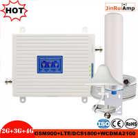 2G 3G 4G трехполосный Усилитель GSM 900 + DCS/LTE 1800(B3)+ UMTS/WCDMA 2100(B1) мобильный ретранслятор сигнала gsm 900/1800/2100 усилитель сигнала