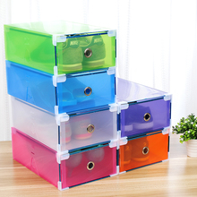 5PCS Transparent shoe box dustproof storage box can be superimposed combination shoe cabinet Clamshell men and women shoe box