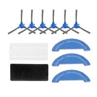 Staub Hepa Filter Seite Pinsel Mop Pad Ersatz Kits für Cecotec Conga 1090 Robotic Staubsauger Ersatzteile-in Staubsauger-Teile aus Haushaltsgeräte bei