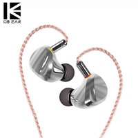 KB EAR TRI I3 In Ear Metal Earphone Dynamic Driver Blanced Armature Driver Unit HIfi Earbuds Music Headset With MMCX Connector