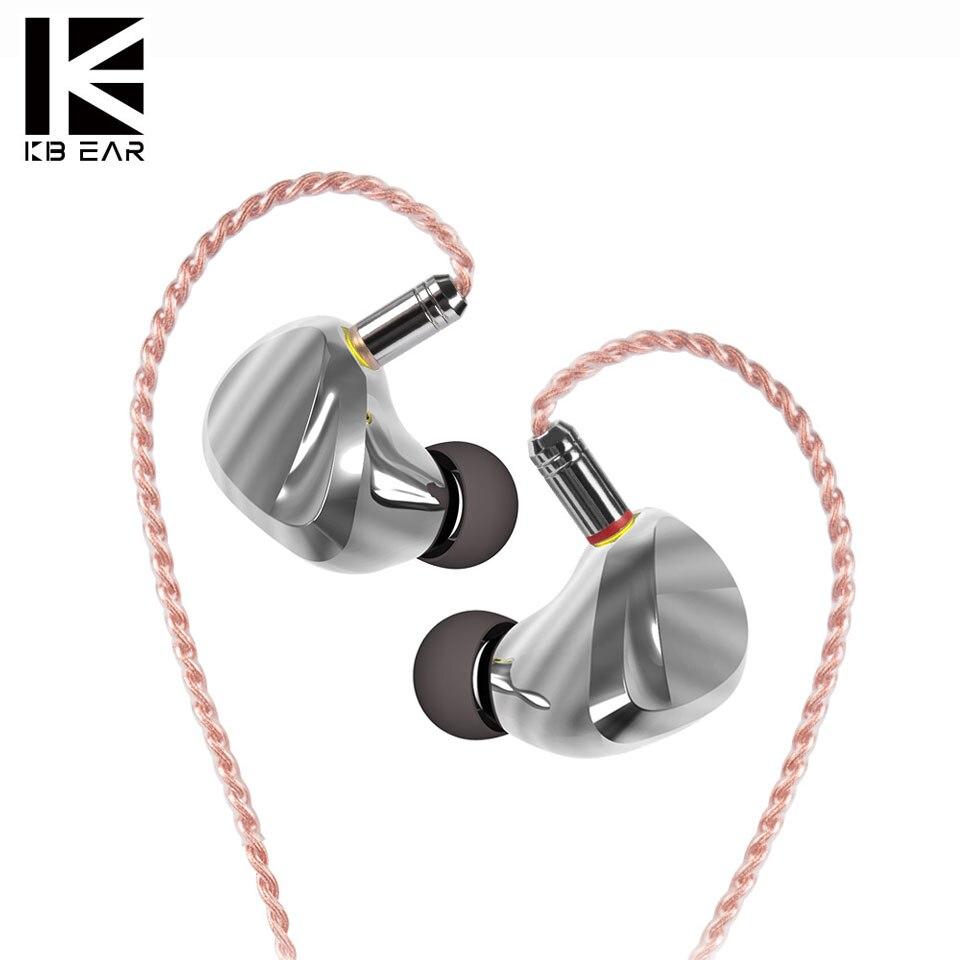 KB oreille TRI I3 dans l'oreille métal écouteur pilote dynamique blancé Armature pilote unité HIfi écouteurs musique casque avec connecteur MMCX