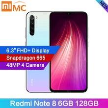 """Original Xiaomi Redmi Note 8 6GB RAM 128GB Cellphone 48MP Quad Cameras 6.3"""" FHD All Screen Snapdragon665 MobilePhone 4000mAh"""