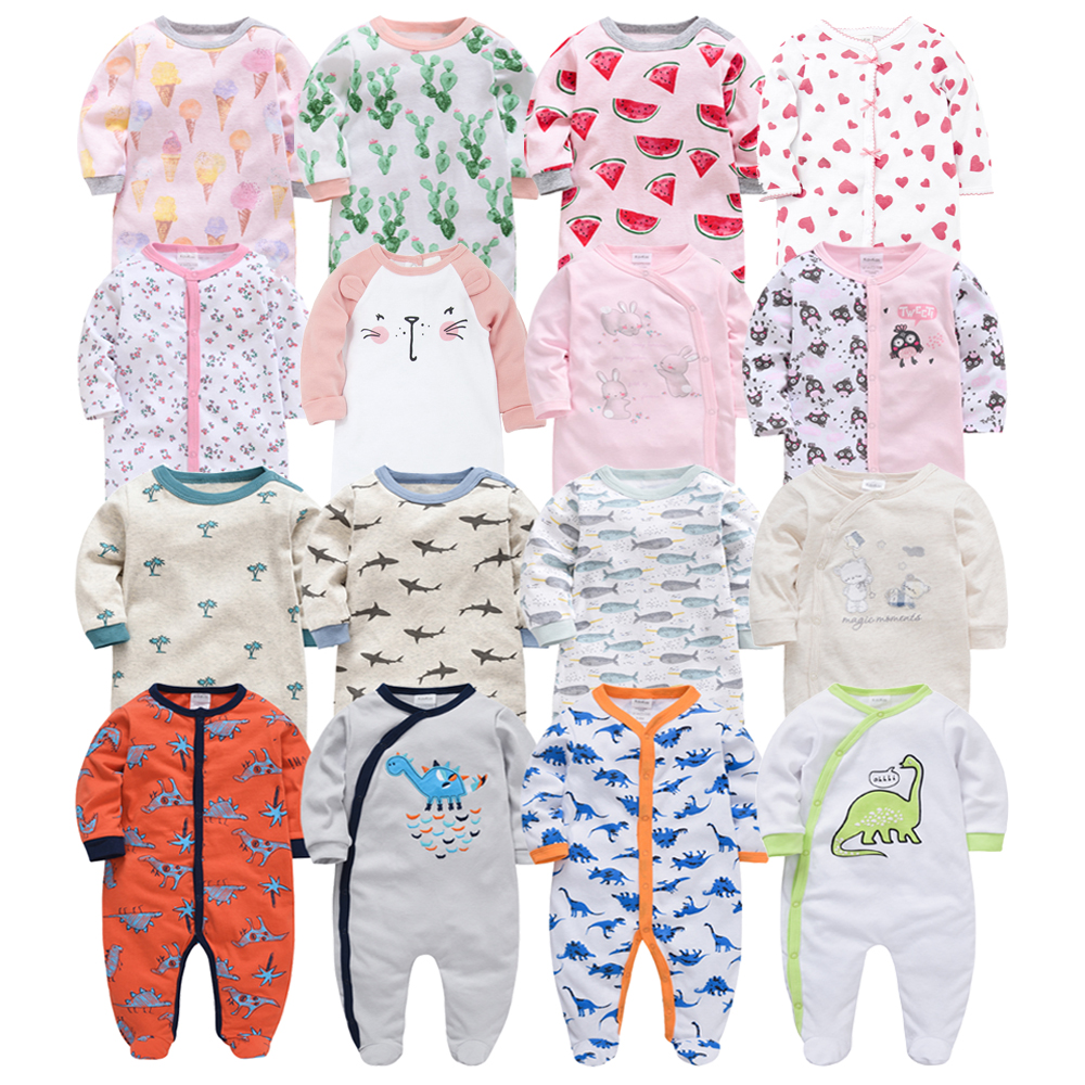 6pcs Honeyzone Winter Baby Boy Clothes Cotton Full Sleeve 3 6 9 12M Baby Pyjamas Newborn Girl Cartoon Print Body bebe Clothing