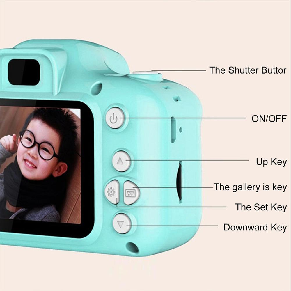 Children Kids Camera Educational Toys for Baby Gift Mini Digital Camera 1080P Projection Video Camera with 2 Inch Display Screen 3