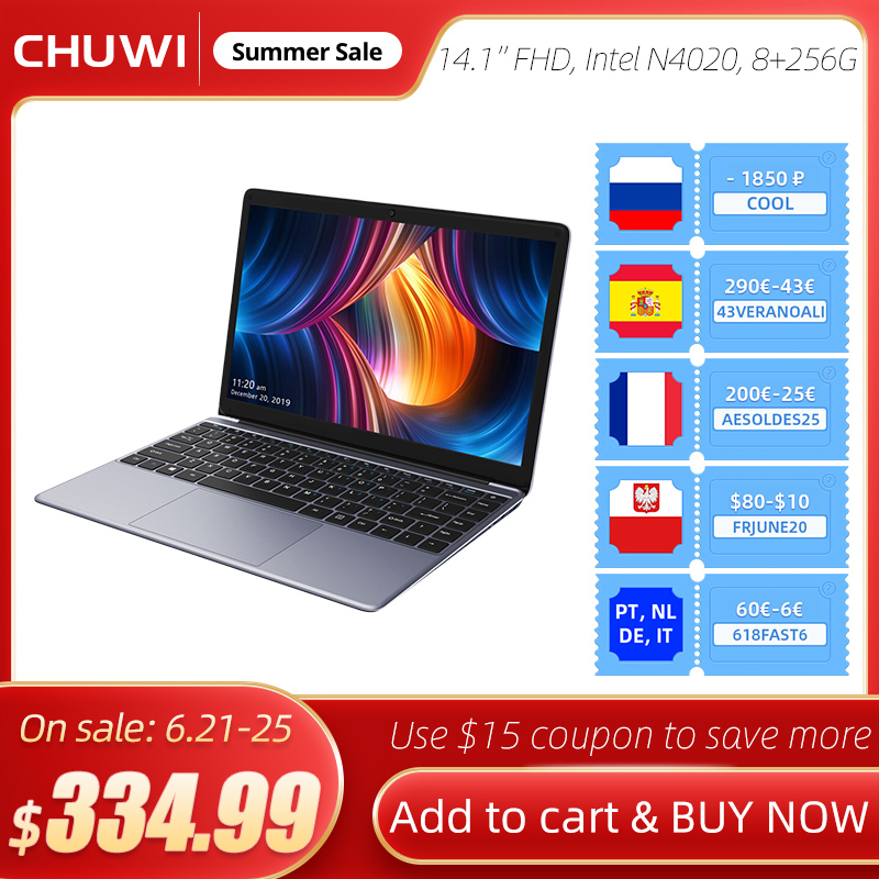 Laptop CHUWI HeroBook Pro, 14.1