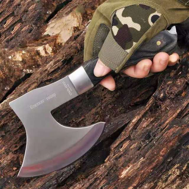 Meat cutting and bone cutting multi-function tomahawk mountain axe machete camping hunting survival outdoor activities 2