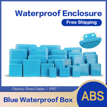 NEW Waterproof Blue DIY Housing Instrument Case ABS Plastic Project Box Storage Case Enclosure Boxes Electronic Supplies