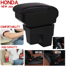 For Honda new fit/jazz Auto Armrest Box Storage box Central console Seat Arm box armrest case Handrail case styling Accessories for honda fit jazz 14 15 low equipped model armrest center console storage box interior
