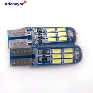 Image 5 - 600x 새로운 자동차 T10 4014 15 LED 전구 W5W 194 화이트 실리콘 15SMD 자동차 인테리어 전구/번호판 라이트 독서 라이트 실리카 get
