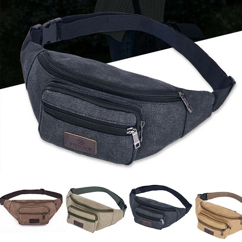 New Unisex Men Women Waist Pack Solid Zipper Large Capacity Multi Pocket Multi Function Chest Bag Csual Sports Travel Bag