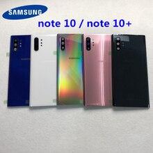 Для Samsung Galaxy Note 10 N970 Note 10 plus N975 N975F NOTE10 + задняя крышка аккумулятора, корпус двери + Ушная камера, стеклянная линза, рамка