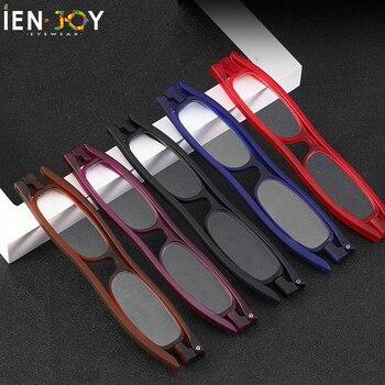 IENJOY, gafas de lectura TR90, gafas de lectura plegables con rotación de 360 grados y Panel plano ultrafino para hombre y mujer, gafas para presbicia + 2,5