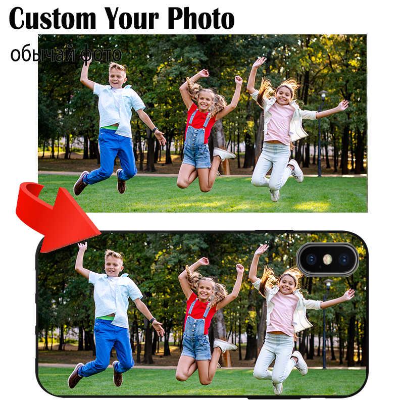 Custom Phone Case Aangepaste Foto Voor Huawei P Smart Y9 Y7 Y6 Y5 G9 Prime 2019 2018 2017 Tpu Zwart cover Naam Zegen Logo