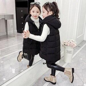 Image 4 - Fashion 2020 Kids Girls Vest Children Autumn Winter Baby Outwear Fashion Kids Down Jackets Wadded Spring Waistcoat for Teenage