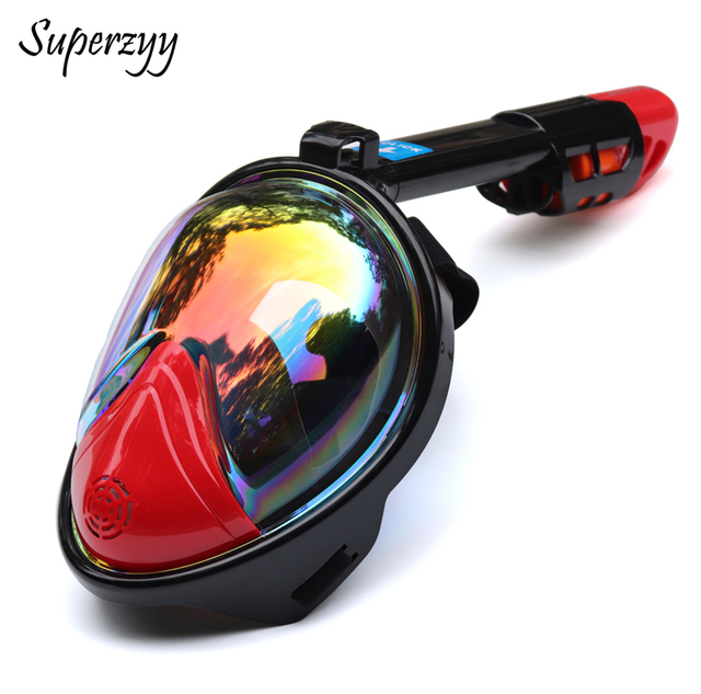Professional Skuba Diving Mask plated colorful Goggles Wide Vision Watersports Equipment With Anti-fog mask snorkeling