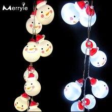 Светодиодный светильник в стиле Санта Клауса 3 м на батарейках