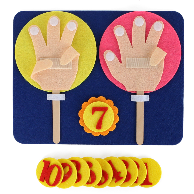 Finger-Math-Toys Montessori Classroom Manual-Materials Teacher Activity Learning Kindergarten title=