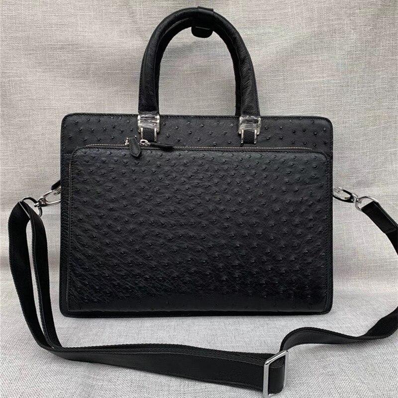da avestruz dos homens grande maleta bolsa