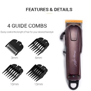 Image 2 - Electric Hair Trimmer Beard Powerful Cordless Professional hair Clipper Shaver Hair Cutting Machine 3/6/10/13mm Limit Comb