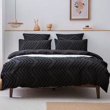 2-3Pcs Sets Of Bedding Set Simple Pure Color Black Wave Pattern Style,Nordic Covers For Bed 150,Duvet cover 200x200 For Bedroom