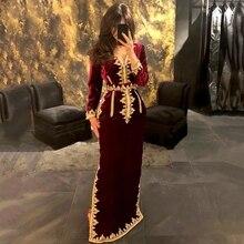 GY Made Real Burgundy Moroccan Kaftan Wedding Dress Bridal Dress Appliques Long Sleeves Wedding Gown Robe De Mariee Custom