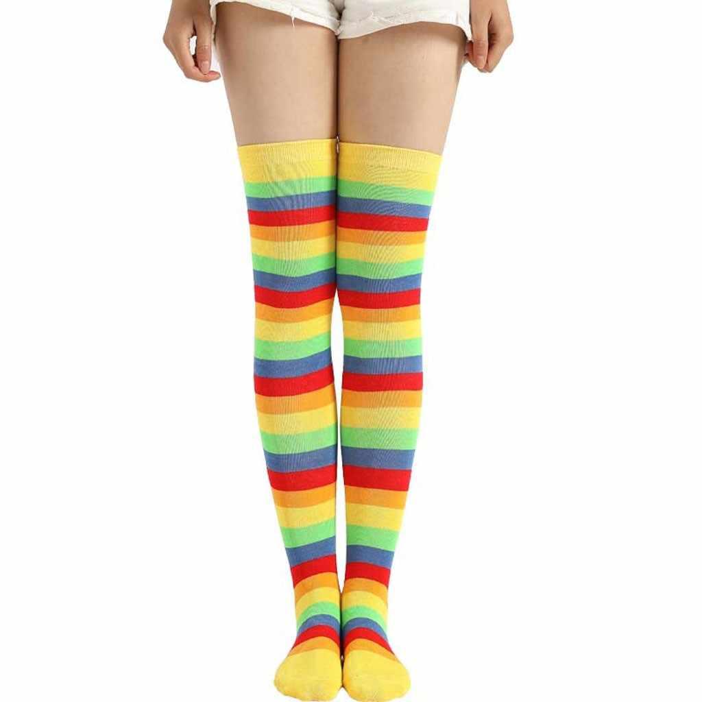 女性虹冬ストッキング Autoreggenti 膝靴下冬暖かいケーブルロングブーツを膝靴下靴下ストッキングランジェリー