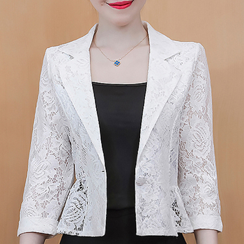 Jackets for Women 2021 Black White Woman Jacket Cardigan Short Jacket Coat Women 3XL 4XL  Jacket Women Jackets D539 1