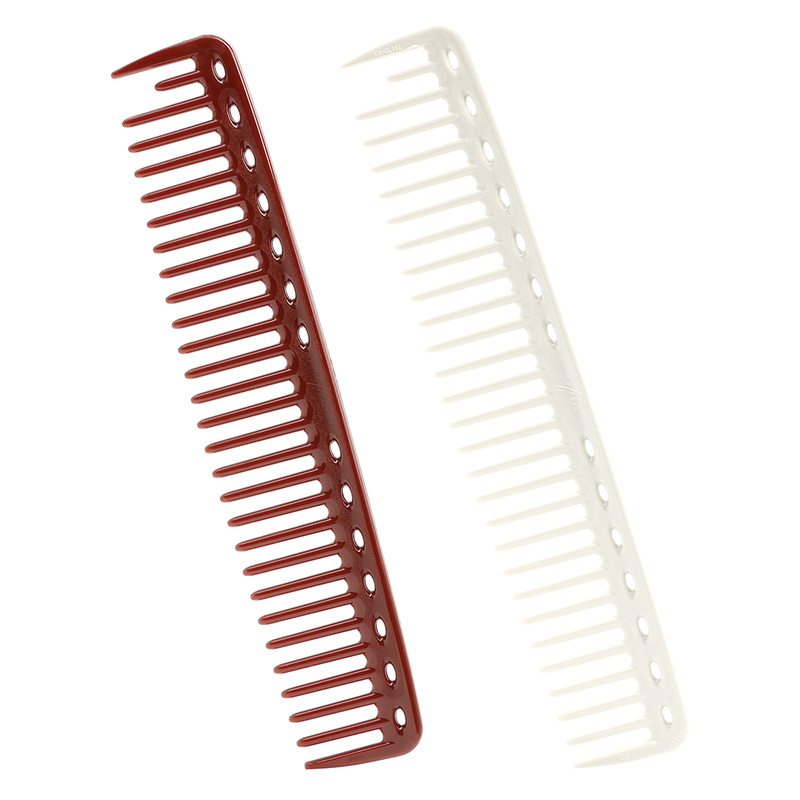 1PCS Hot Comb Anti-static Hairdresser Cut Hair Cutting Comb Salon Plastic Practical Wide-tooth Aluminum Comb For 2 Color