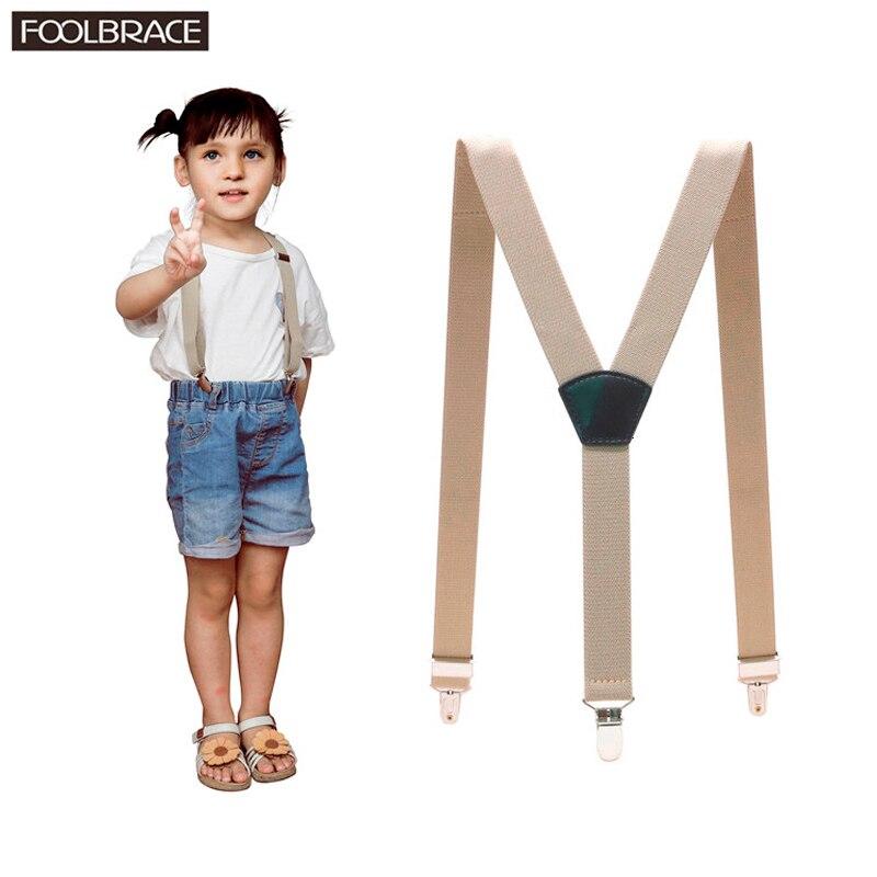 3 Clips Kids Adjustable Sold Clip-on Y-back Suspenders Children Girl Boy Braces Wedding Casual Wear 70*2.5cm