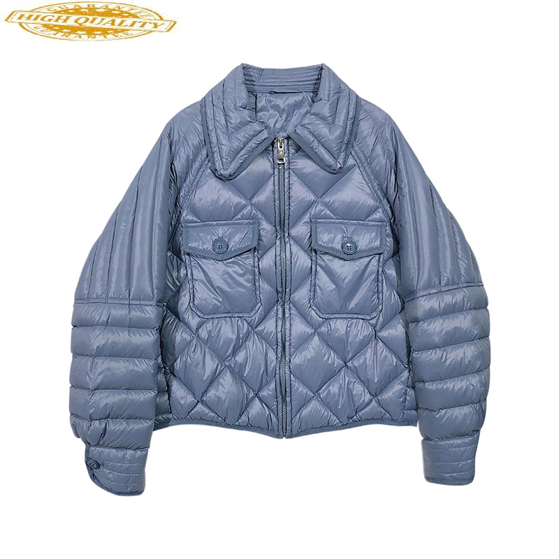 Ultra Light Down Jacket Women Short Puffer Duck Down Coat Winter Autumn Korean Women's Down Jackets Chaqueta Mujer J3670