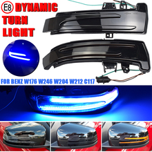 2pcs Dynamic LED Turn Signal Light Mirror Indicator Blinker for Mercedes Benz W176 W246 W204 W212 C117 X156 C204 X117