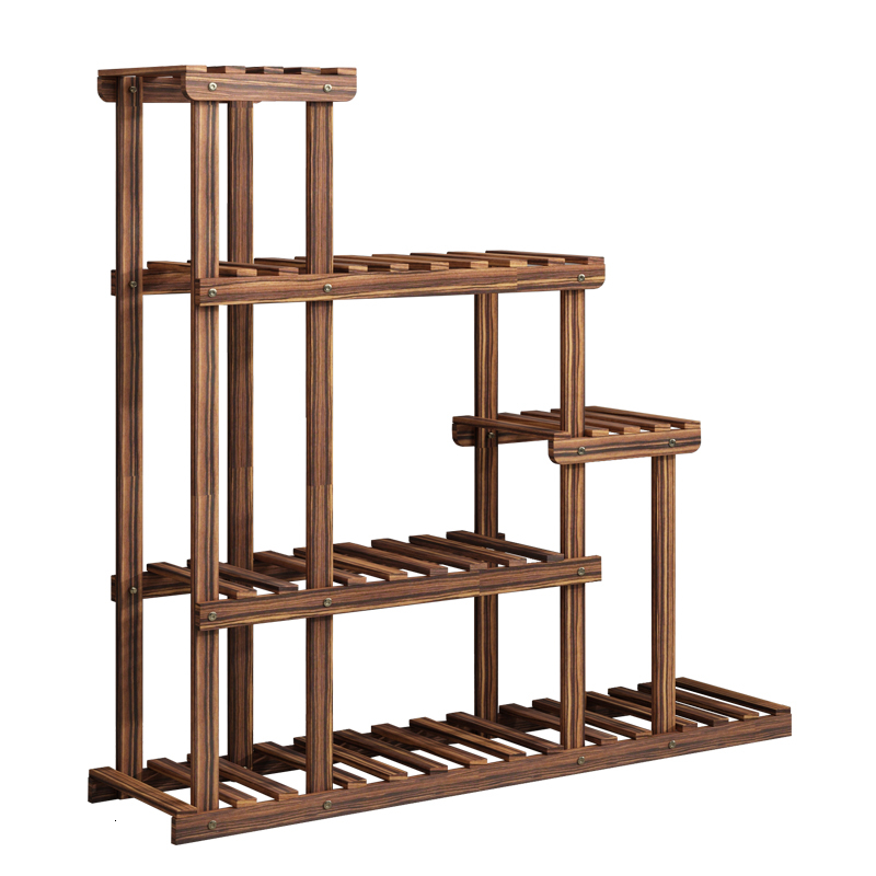 Airs Balcony Indoor Multi-storey Woodiness Shelf Solid Wood Living Room Landing Type Simplicity Rack