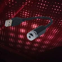 1 Pcs Le Luci Ambiente Auto Tetto Star Romantica Luce di Notte del USB Atmosfera Lampada Della Luce di Soffitto di Casa Luce Della Decorazione