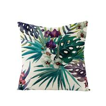Home Tropical Plants Green Leaves Linen Pillows Animal Nordic Cushions Lumbar Pillowcases Durable Many Types