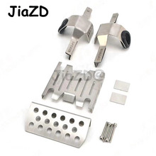 Metal Front Middle Chassis Armor Skid Plate Guards Upgrade Part for 1/8 RC Model Car Traction