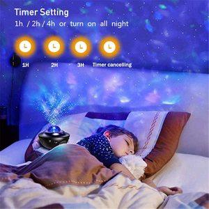 Image 2 - ZK20 Galaxy projektor lampka nocna gwiaździsty Ocean Wave projektor romantyczny kolorowy gwiaździsty USB sterowanie głosem głośnik muzyczny Bluetooth