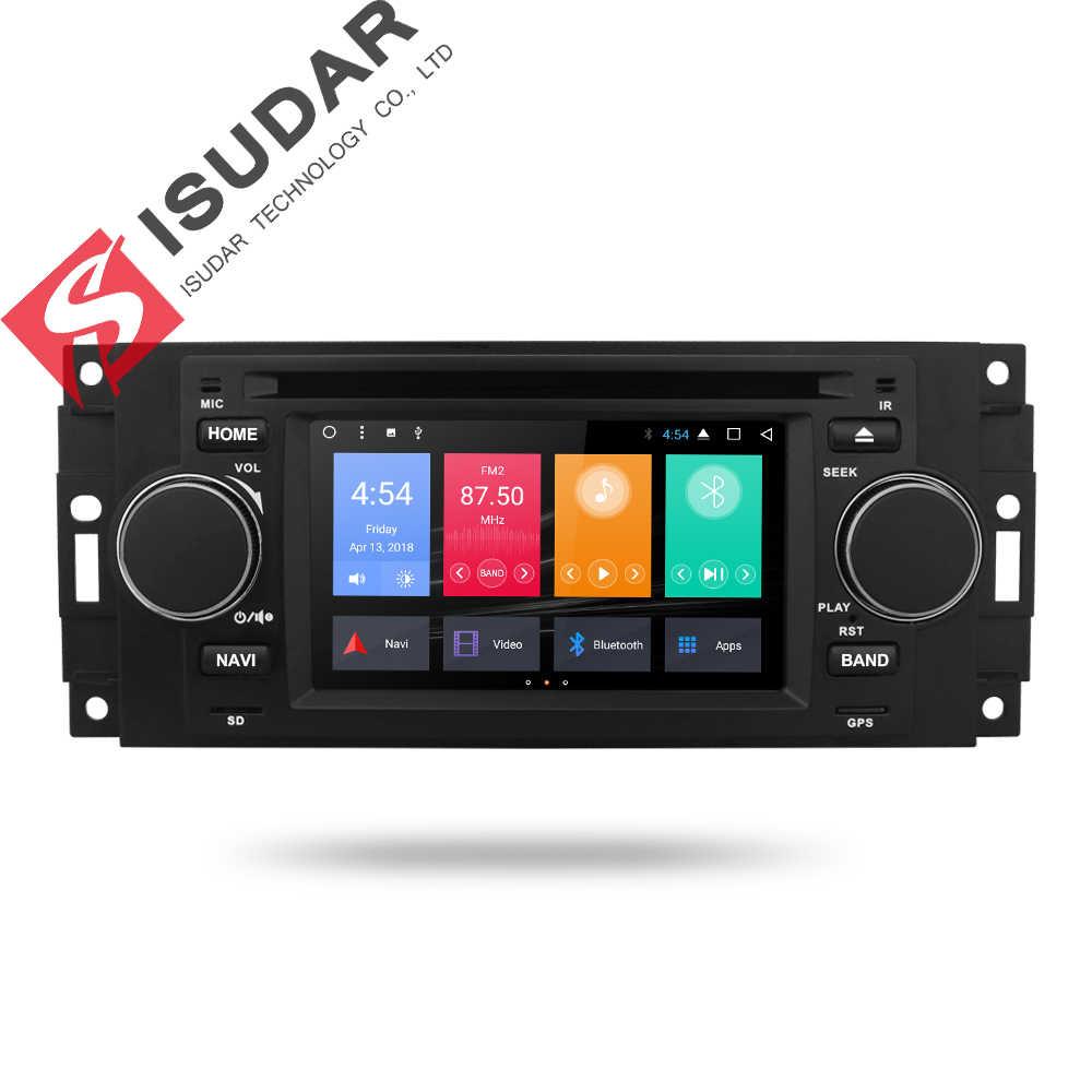 Isudar 車マルチメディアプレーヤーアンドロイド 7.1.1 5 インチクライスラー/300C/ダッジ/ジープ/コマンダー/コンパス/グランドチェロキーラジオ gps dvd
