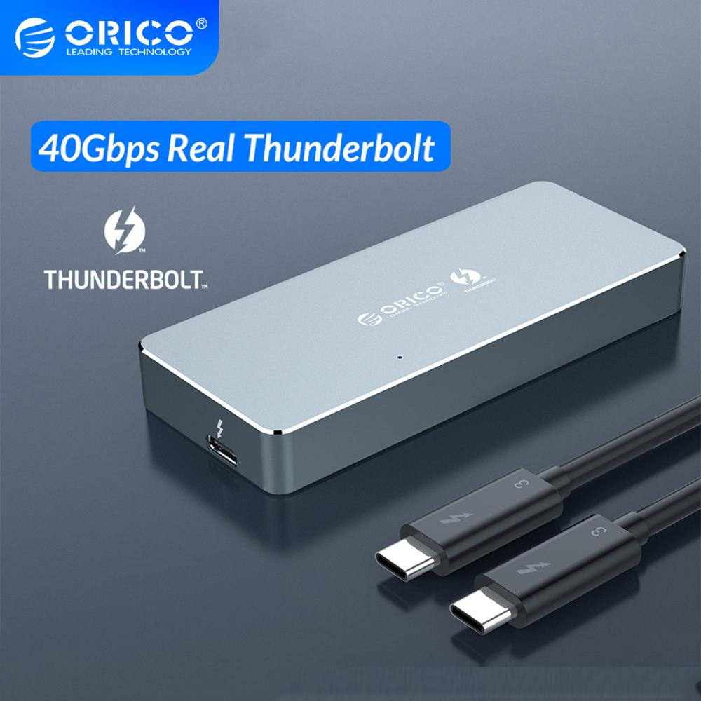 ORICO Thunderbolt 3 40Gbps NVME M.2 SSD Enclosure 2TB Aluminum Type C with 40Gbps Thunderbolt 3 C to C Cable For Mac WindowsHDD Enclosure   -