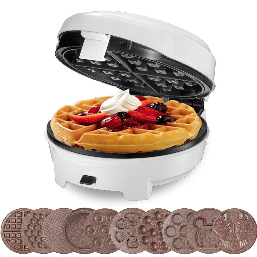 220V Casa 7 Kitchen Multifunction  Egg Waffle Maker/Donut Machine/Heart Waffle Maker/Cake Pop Machine Non-floating Type ZM-277