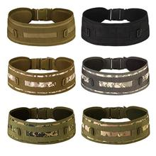 HobbyLane Military Army Equipment Combat Man Canvas Belt Quick Release Tactical for Men Outdoor Training Hunting Waistband