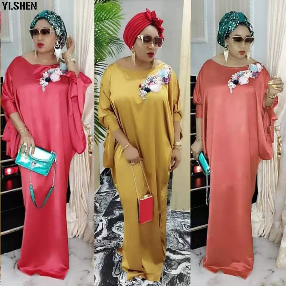2019 African Dresses For Women Plus Size Boubou Africain Dashik Bow African Clothes New Flowers Robe Africa Dress Outfit Woman