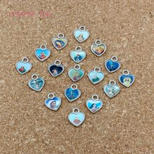Enamel Heart of Jesus Christian cross charm Pendants 200Pcs/lot Fashion Jewelry DIY Fit Bracelets Necklace 10x12mm A-530
