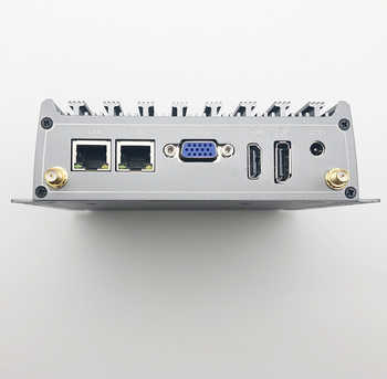 Chatreey X1 Fanless mini pc core i5 i7 industrial desktop computer triple display VGA DP HDMI dual lan port