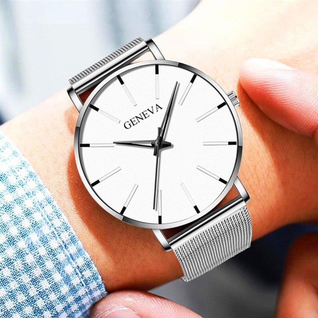 Men Luxury Watches Quartz Wrist watch Man Sport Analog Wristwatch Stainless Steel Casual Bracele Watch Simple Top Brand Clock 5