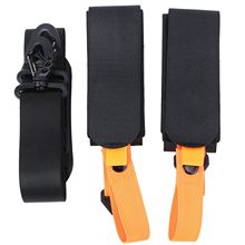 1pc Adjustable Skiing Pole Shoulder Hand Carrier Anti-slip with Ski Pole Hook Loop Protecting Neoprene Pad Ski Handle Strap Bags