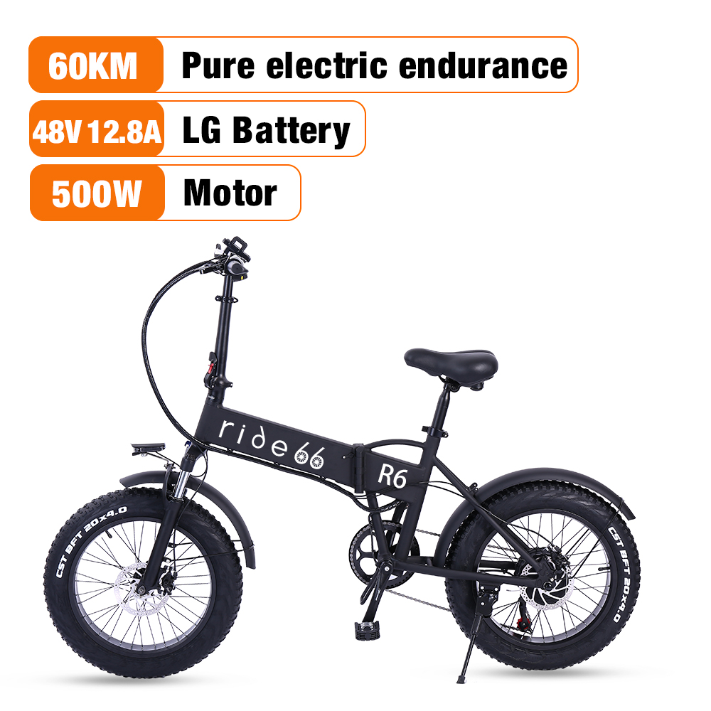 Electric bike mountain e bike 500w folding 20 inch Fat Tire Adults Mens Womens bicycle