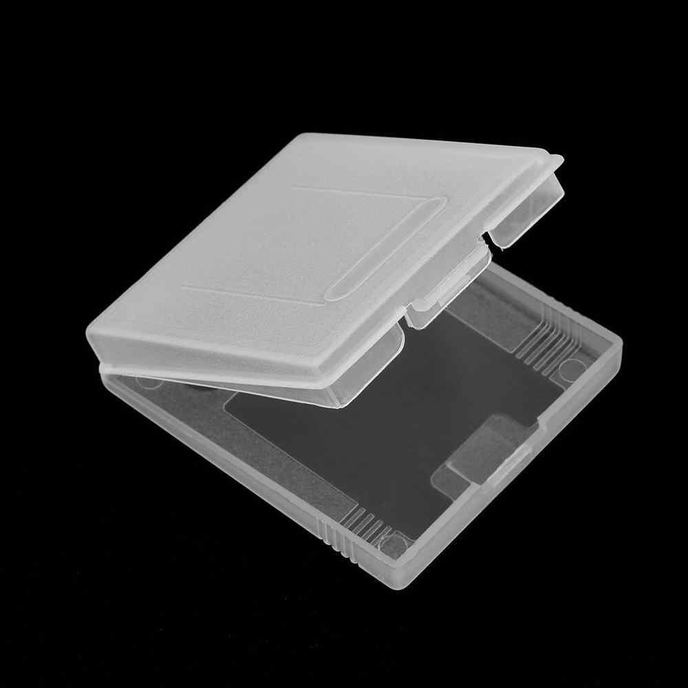 Przezroczysty z tworzywa sztucznego kartridż z grą przypadki schowek uchwyt ochronny osłona przeciwpyłowa obudowa wymienna dla Nintend GameBoy GB GBC GBP