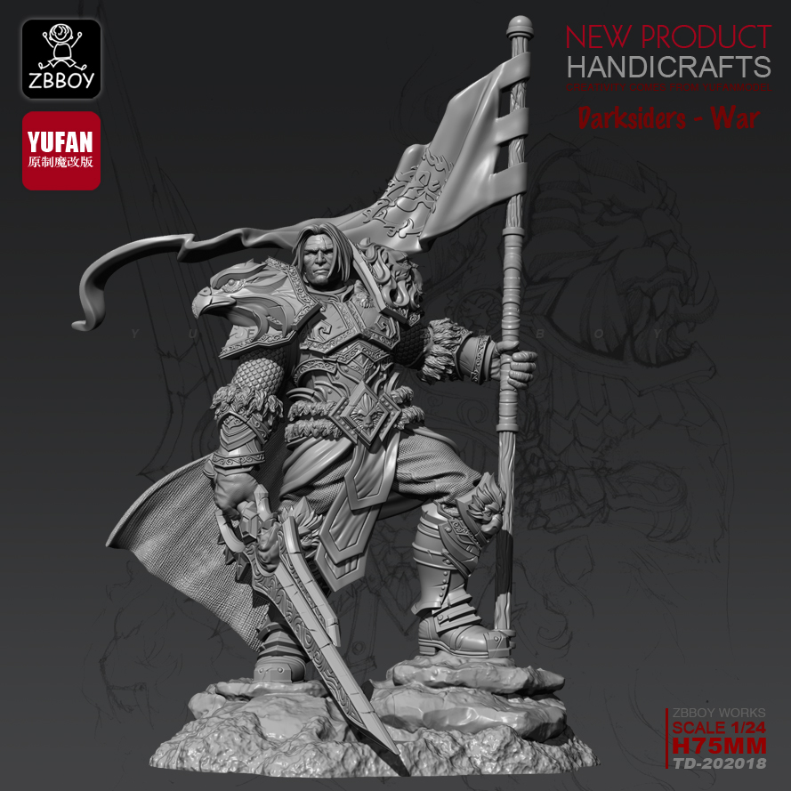 1/24 Resin Kits Varian Resin Soldier Model Self-assembled TD-202018